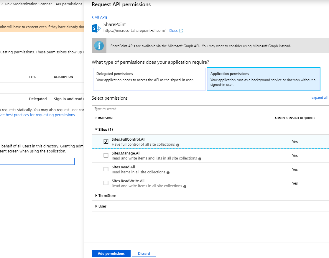 Granting access via Azure AD App-Only | Microsoft Docs