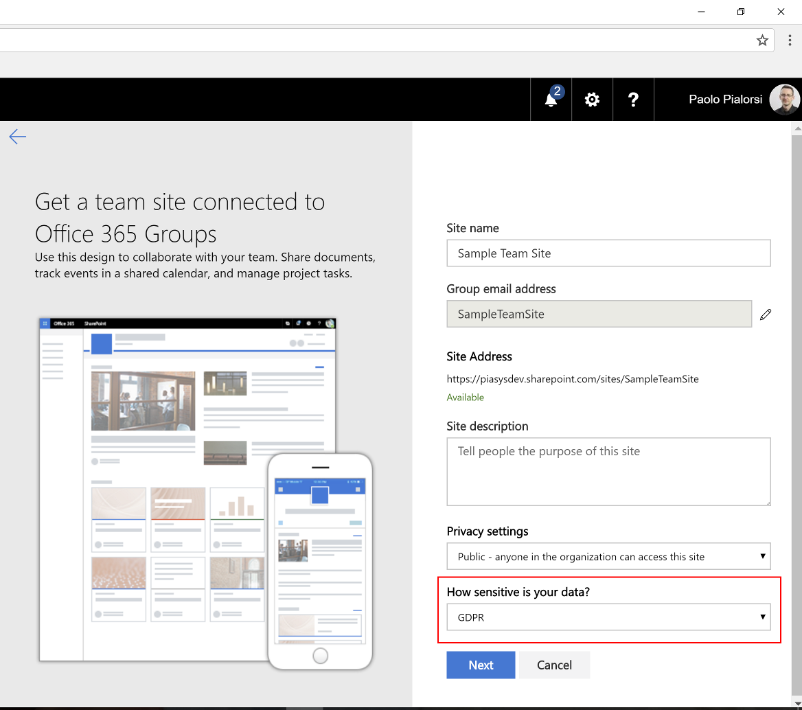 Sharepoint Modern Sites Classification Microsoft Docs