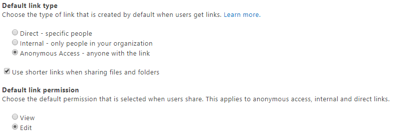 how to use link sharing