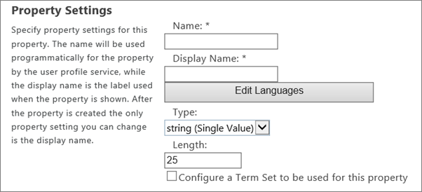 add and edit user profile properties in sharepoint online