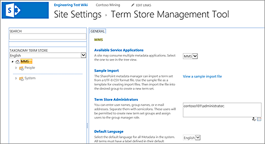 Image result for sharepoint term store""