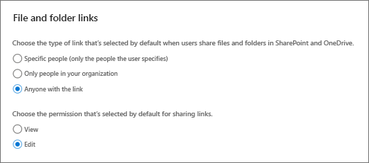 Default links