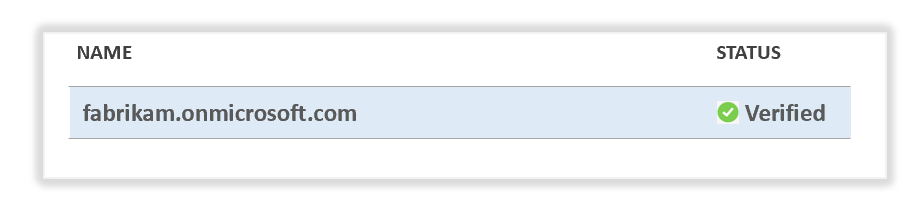Domain status verified