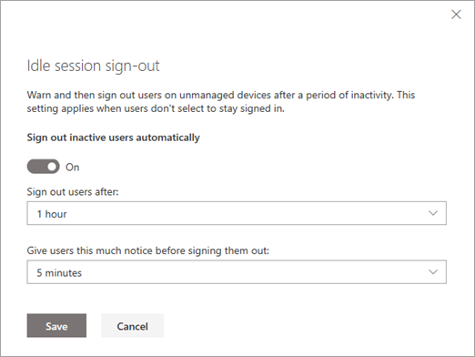 Sign out inactive users | Microsoft Docs