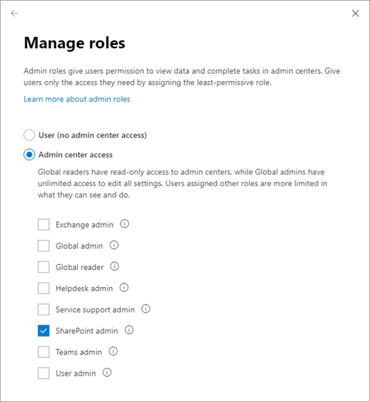 About the SharePoint admin role in Microsoft 365 | Microsoft Docs