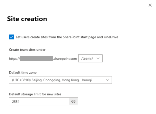 Manage site creation in SharePoint Online | Microsoft Docs