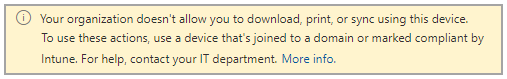 The experience when web access is limited