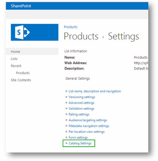 Stage 3 How To Enable A List As A Catalog In Sharepoint Server