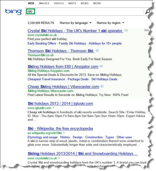 Search Vertical Web