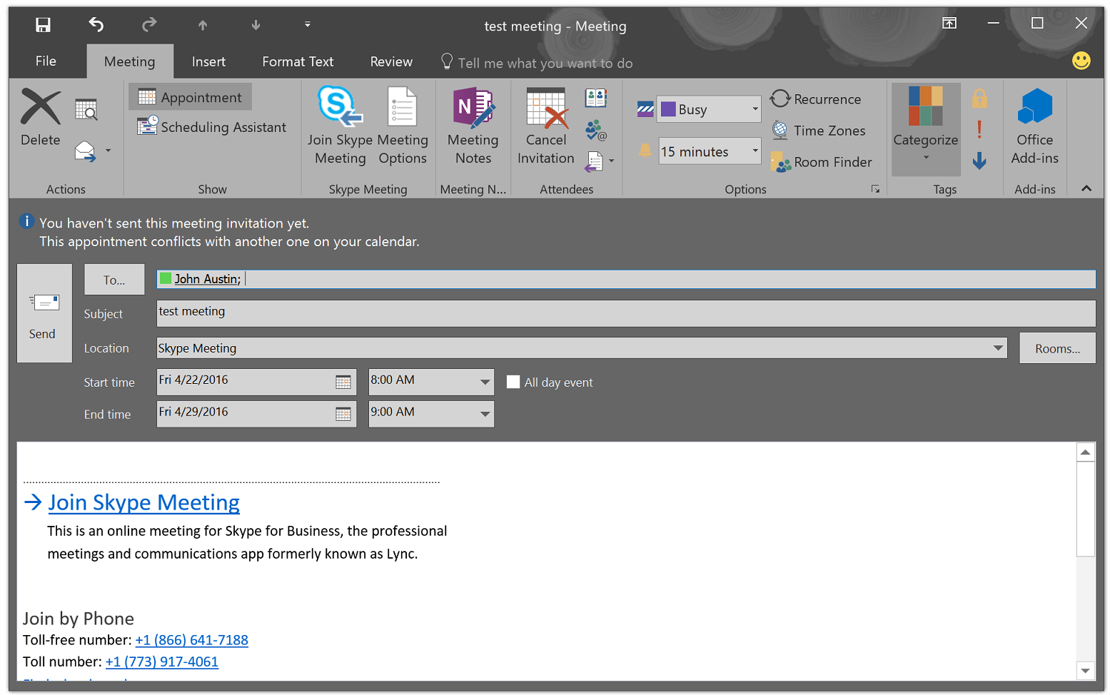 Get a Skype for Business on-premise meeting URL | Microsoft Docs