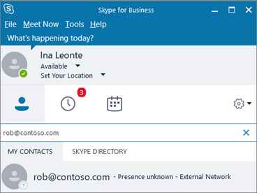 Allow users to contact external Skype for Business users