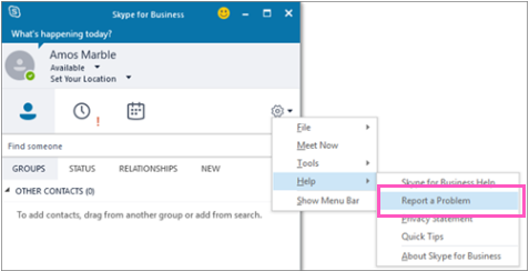 Turn on or off Skype for Business client feedback reporting