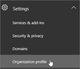 Change the default language for greetings and emails microsoft docs choose settings and then choose organization profile m4hsunfo Images