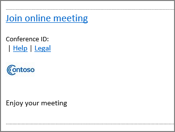customize meeting invitations microsoft docs