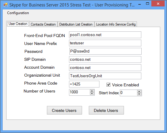 Using the Skype for Business Server 2015 Stress and