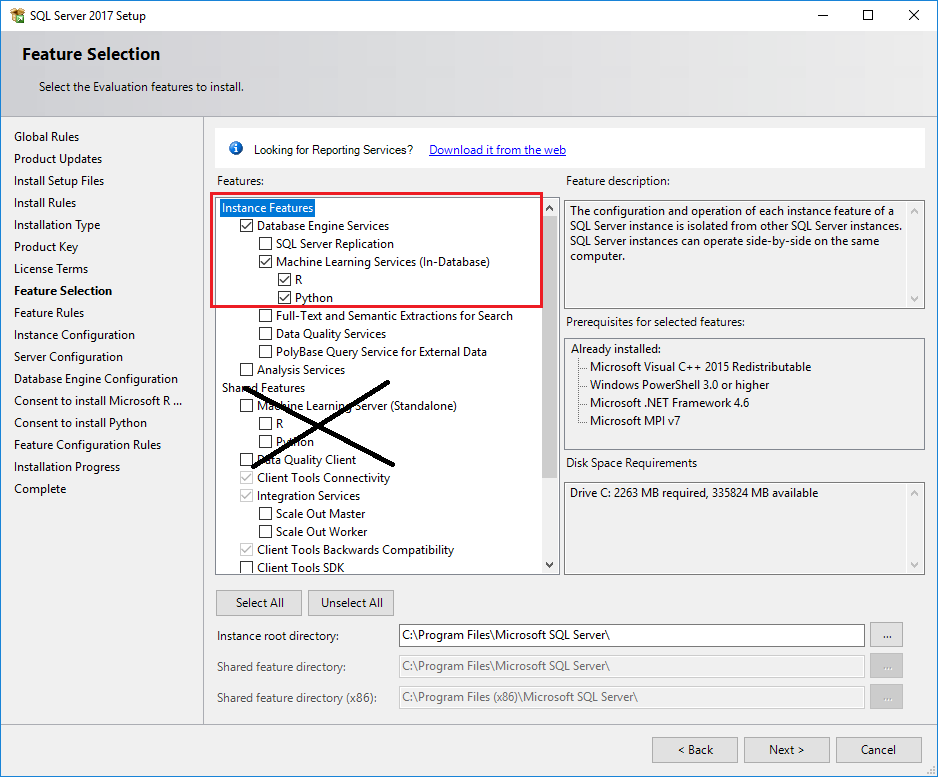 how to install sql server 2017 developer edition on windows 7