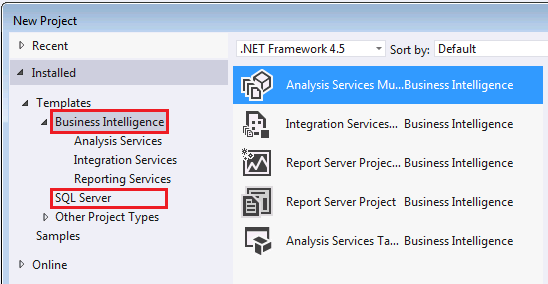 Reporting services in sql server data tools ssdt microsoft docs new project templates in ssdt wajeb Images