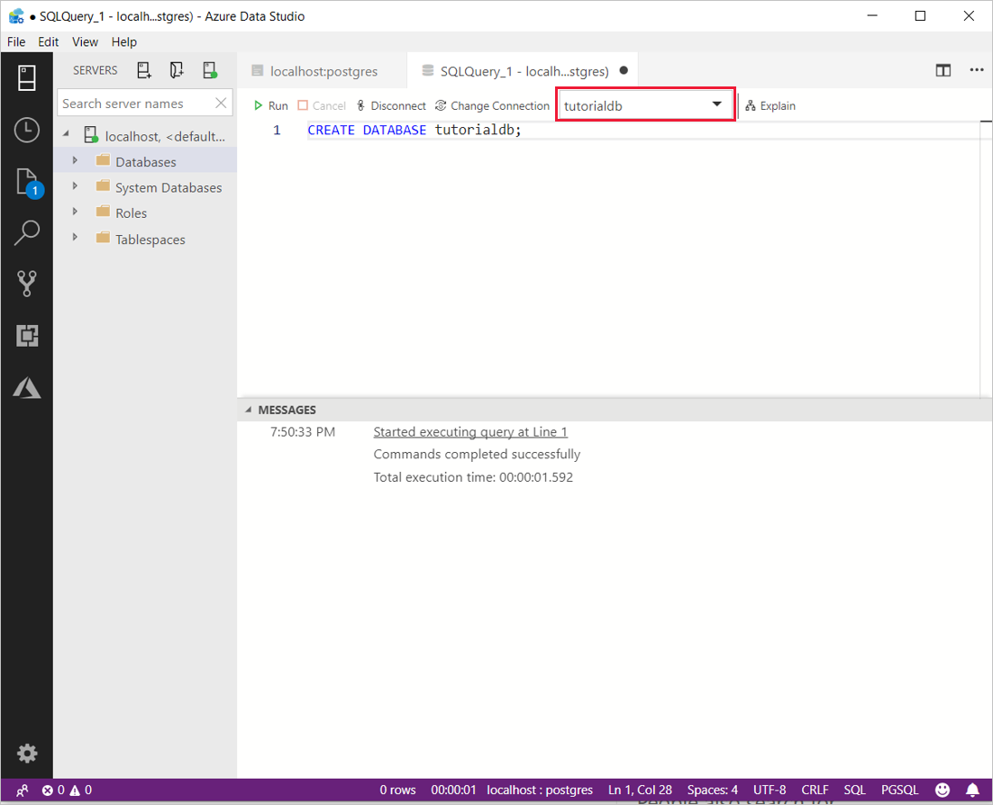 Quickstart: Connect and query PostgreSQL - Azure Data Studio