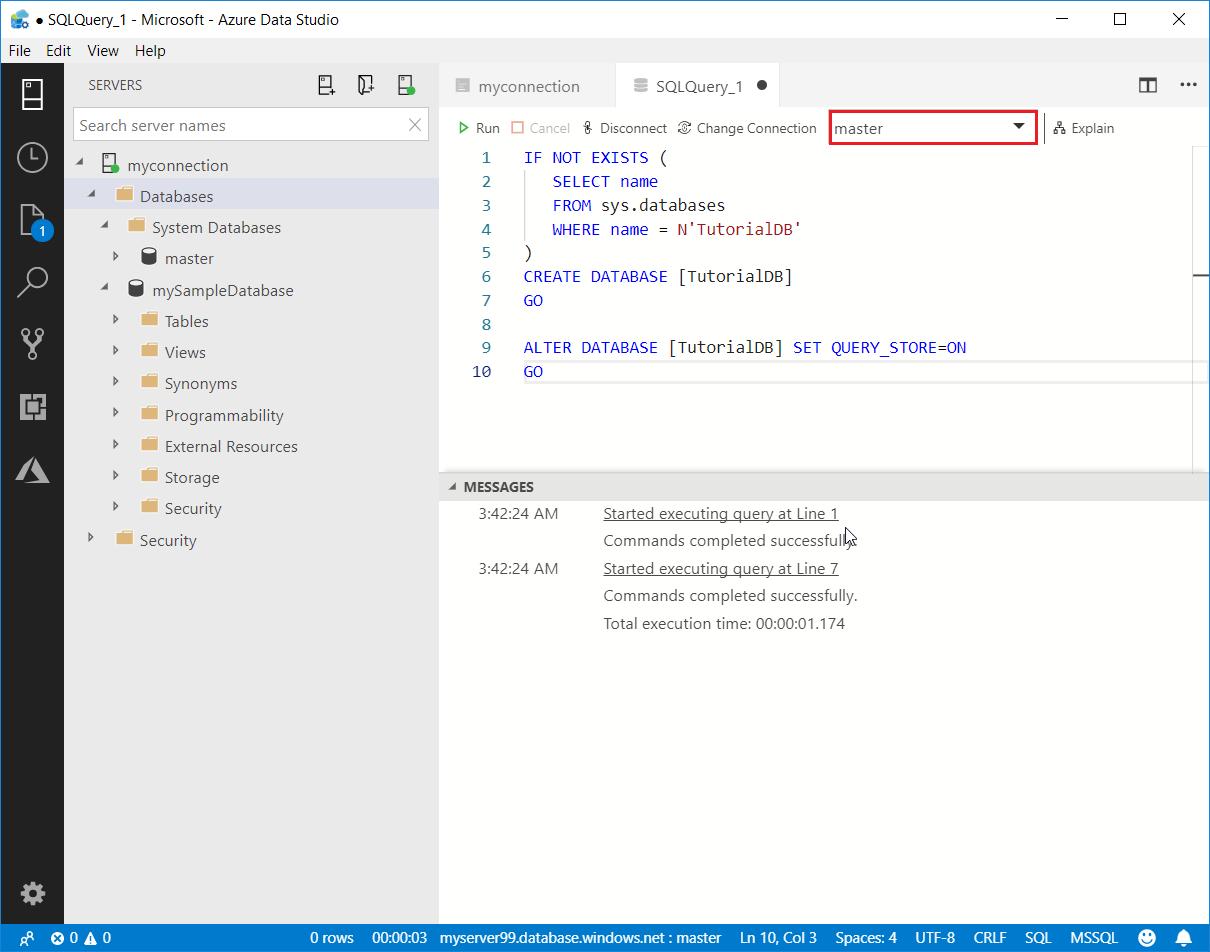 Quickstart: Connect and query an Azure SQL database - Azure