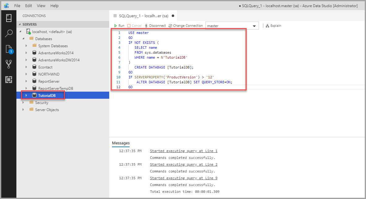 Quickstart Connect And Query Sql Server Azure Data Studio