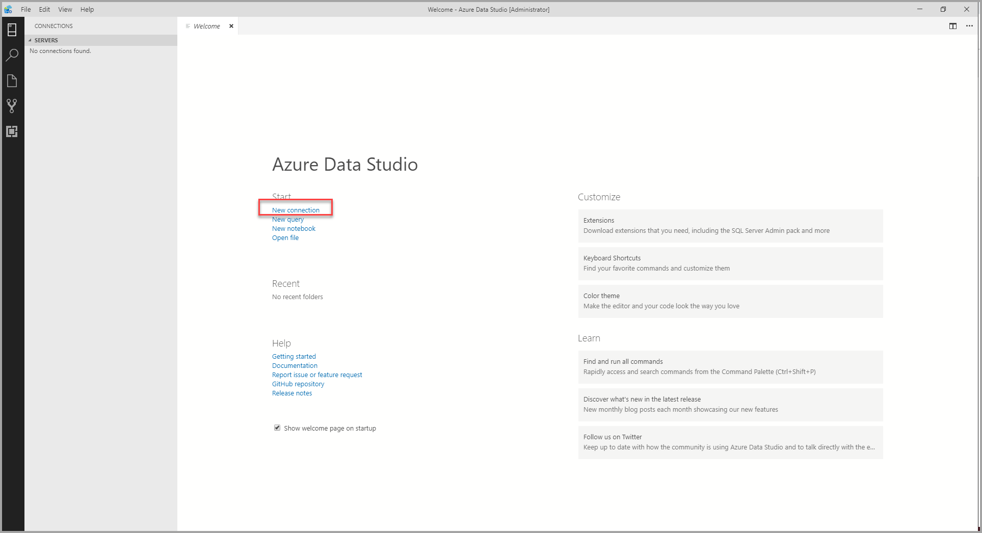 Quickstart: Connect and query SQL Server - Azure Data Studio