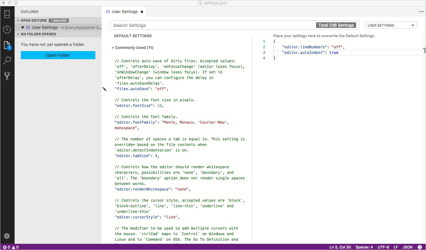 User and Workspace Settings - Azure Data Studio | Microsoft Docs
