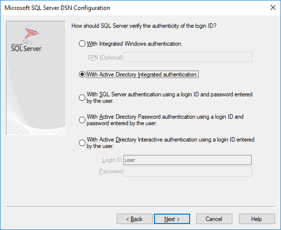 Using Azure Active Directory with the ODBC Driver - SQL