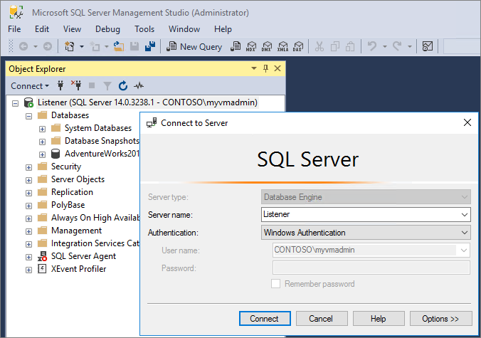 connect to listener in ssms - How To Get Ip Address In Sql Server 2008