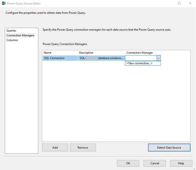 Power Query Source - SQL Server Integration Services (SSIS
