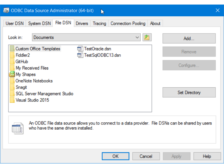 Connect to an ODBC Data Source SQL Server Import and Export