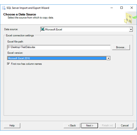 Connect To An Excel Data Source Sql Server Import And Export Wizard