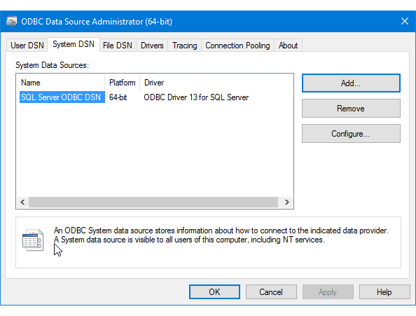 DRIVERS FOR MS SQL ODBC