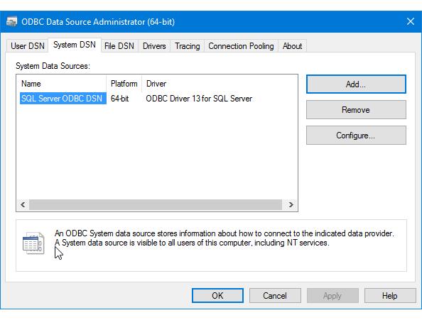 Driver 2005 sql odbc for microsoft server