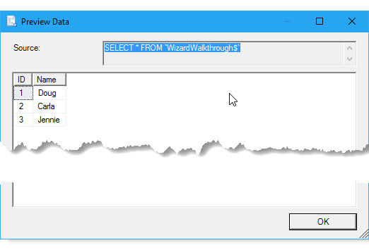 Get started with this simple example of the Import and
