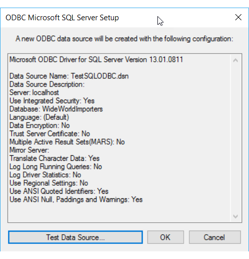 Connect to an ODBC Data Source (SQL Server Import and Export Wizard