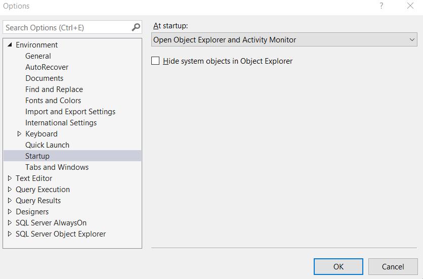 open object explorer - How To Get Object Explorer In Sql Server 2012
