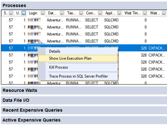live query statistics microsoft docs