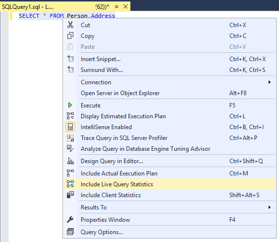 Live Query Statistics - SQL Server | Microsoft Docs