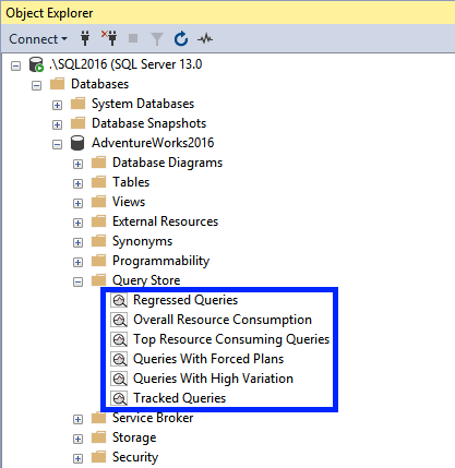 Query Store in SSMS