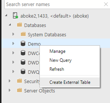 Virtualize external data in SQL Server 2019 CTP 2 0 - SQL