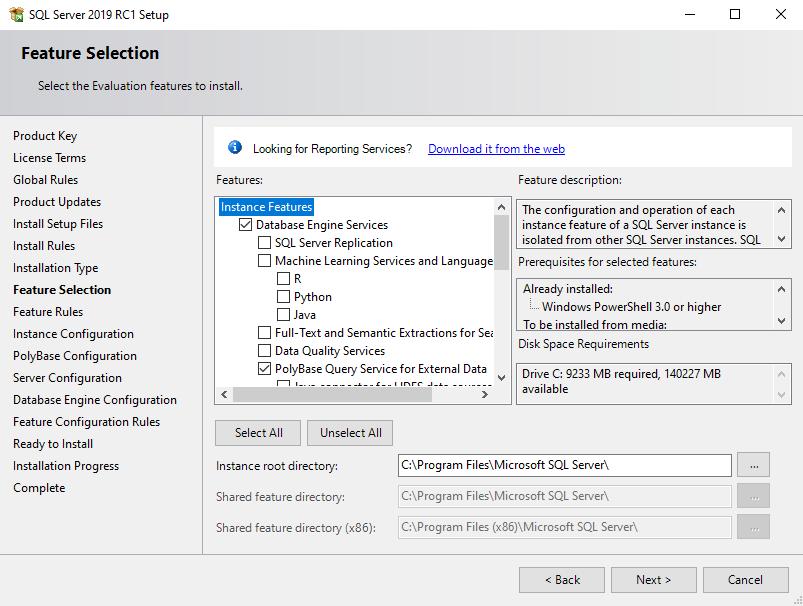 Install PolyBase on Windows - SQL Server | Microsoft Docs