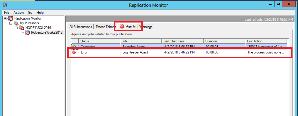 Troubleshooter: Find errors with SQL Server transactional