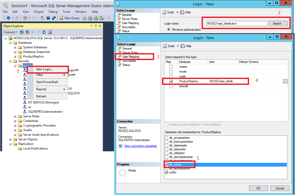 Tutorial configure replication between two fully connected login on subscriber baditri Image collections