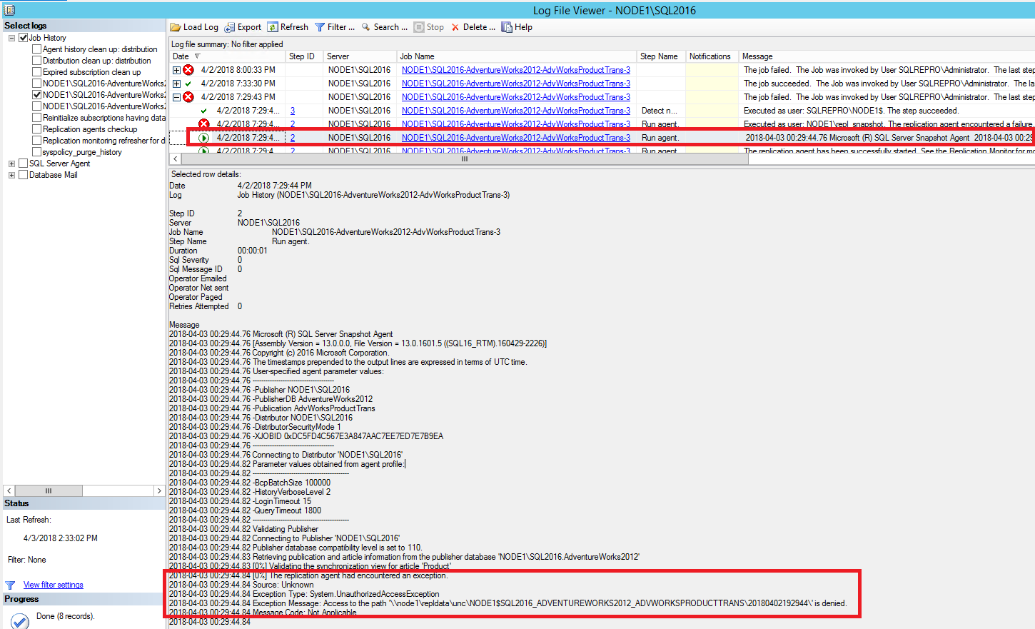 Tutorial configure replication between two fully connected snapshot agent access denied baditri Image collections