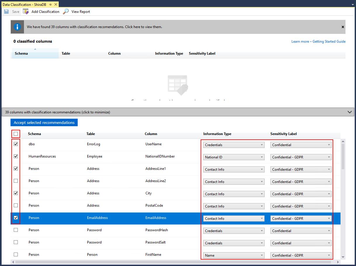 SQL Data Discovery & Classification - SQL Server | Microsoft
