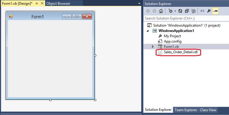 Using the WinForms ReportViewer Control - SQL Server