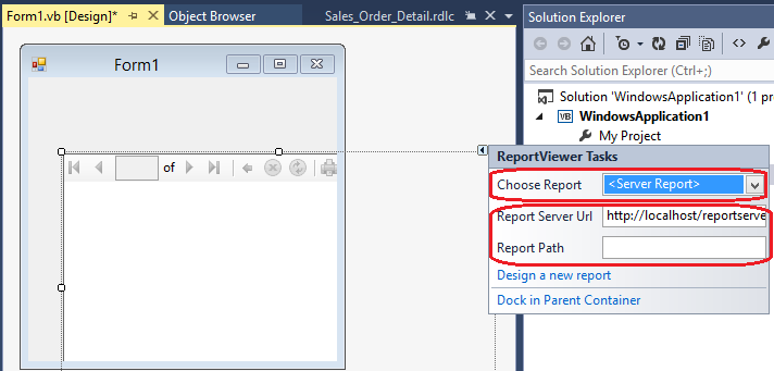 Using the WinForms ReportViewer Control - SQL Server Reporting