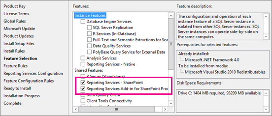 Install The First Report Server in SharePoint Mode | Microsoft Docs
