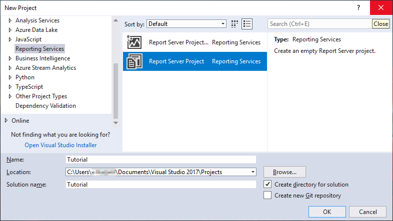 Lesson 1 Create A Report Server Project Sql Server Reporting Services Ssrs Microsoft Docs