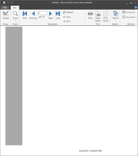 Tutorial: Creating a Free Form Report (Report Builder) - SQL